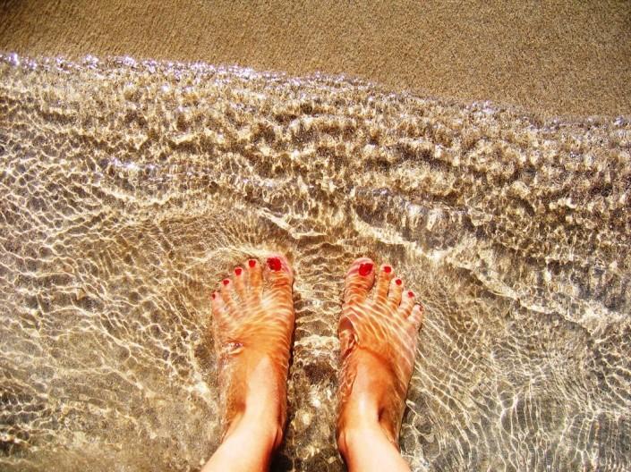 pies playa